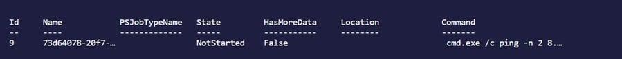 Figure 9: Output after running the Register-ObjectEvent cmdlet