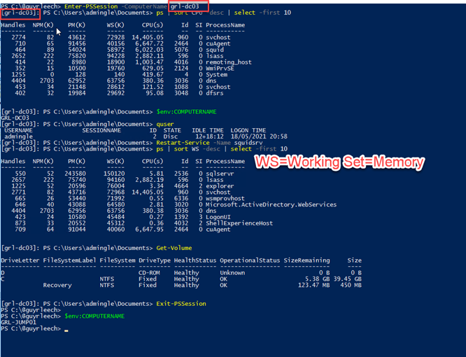 Using PowerShell remote sessions interactively via Enter-PSSession