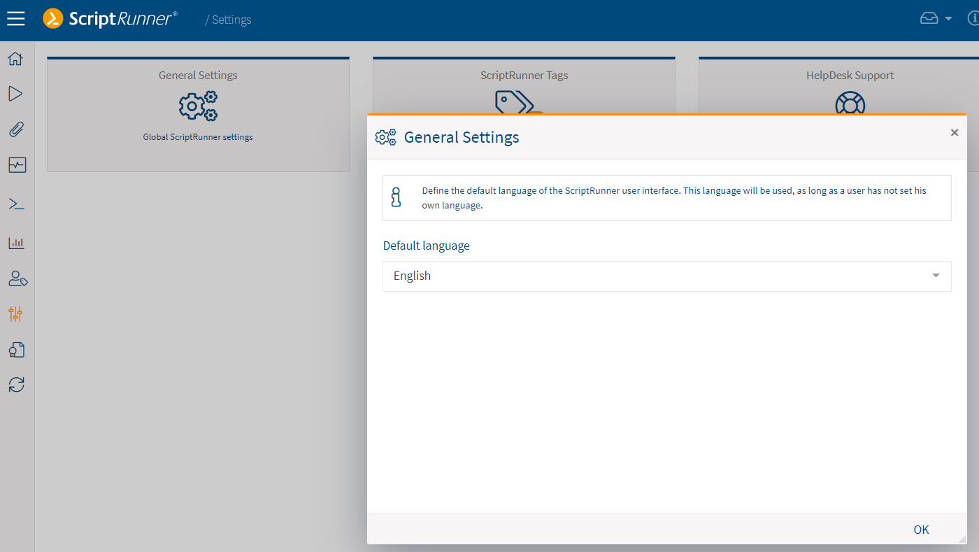 Setting a portal-wide default language directly from the Settings App