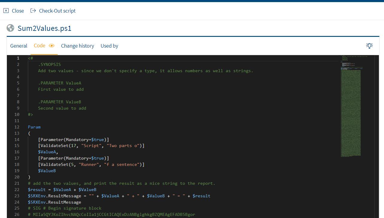 Screenshot: Integrated Script Editor in Portal Edition R1