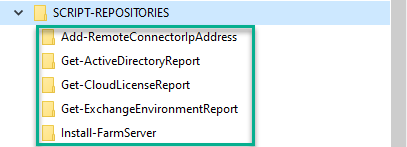 Repositories, Screenhot, Folder