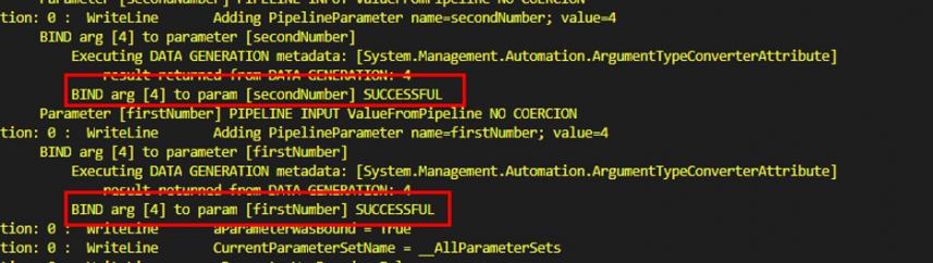 Screenshot: Parameter binding for Int object