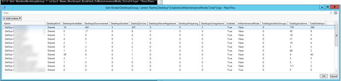 Screenshot of Delivery group statistics in Citrix Studio