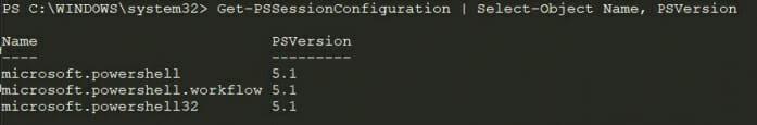 Screenshot of the default Windows PowerShell configuration