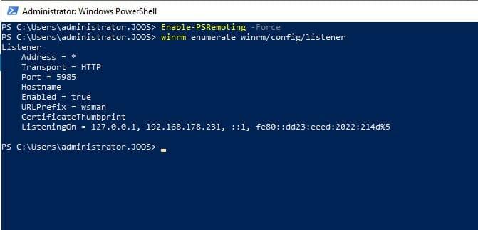 Abbildung 3: Screenshot PowerShell ISE: Überprüfen der Remote-Verbindung für die PowerShell auf Windows-Servern