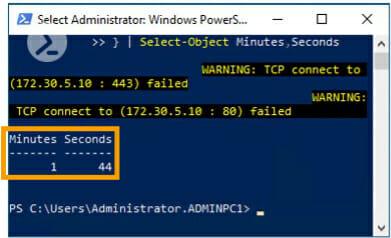 Figure 3: Screenshot Windows Powershell